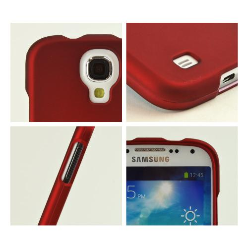 Red Rubberized Hard Case for Samsung Galaxy S4