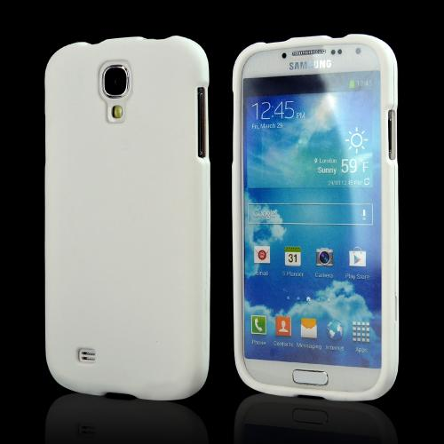 White Rubberized Hard Case for Samsung Galaxy S4