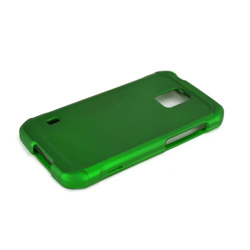 Green Samsung Galaxy S5 Active Matte Rubberized Hard Case Cover; Perfect fit as Best Coolest Design Plastic cases