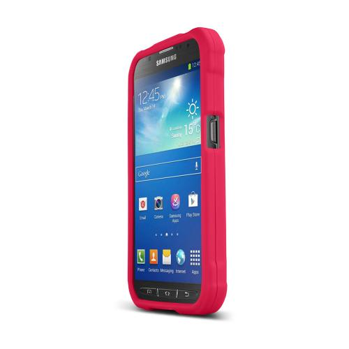 Rose Pink Samsung Galaxy S5 Active Matte Rubberized Hard Case Cover; Perfect fit as Best Coolest Design Plastic cases