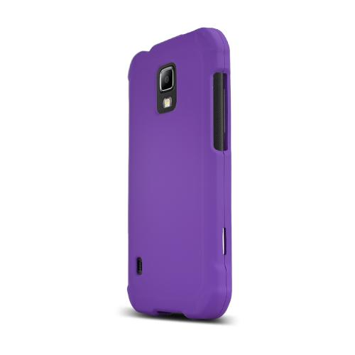 Purple Samsung Galaxy S5 Active Matte Rubberized Hard Case Cover; Perfect fit as Best Coolest Design Plastic cases