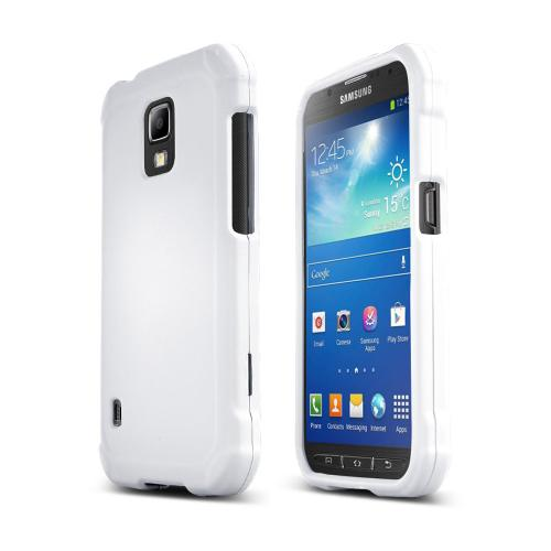 White Samsung Galaxy S5 Active Matte Rubberized Hard Case Cover; Perfect fit as Best Coolest Design Plastic cases