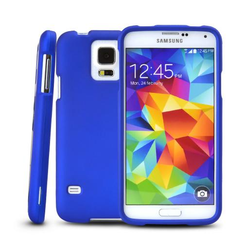 Blue Rubberized Hard Case for Samsung Galaxy S5