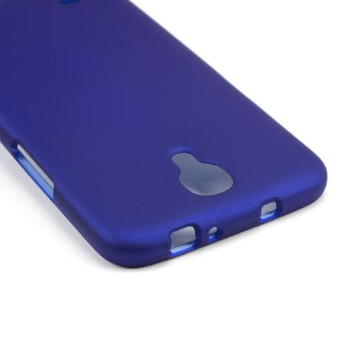 Blue Rubberized Hard Case for Samsung Galaxy Mega 6.3
