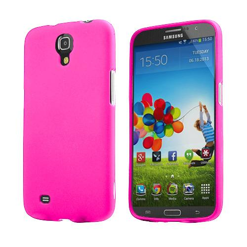 Hot Pink Rubberized Hard Case for Samsung Galaxy Mega 6.3