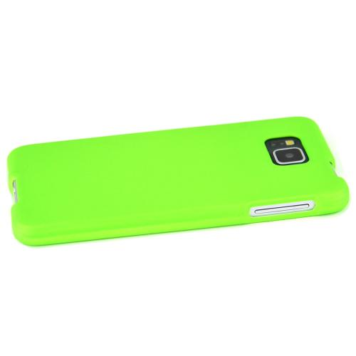 Samsung Galaxy Alpha Protective Rubberized Hard Case Anti-slip Matte Rubber Material [Perfect Fitting Samsung Galaxy Alpha (2014) Case] [neon Green]