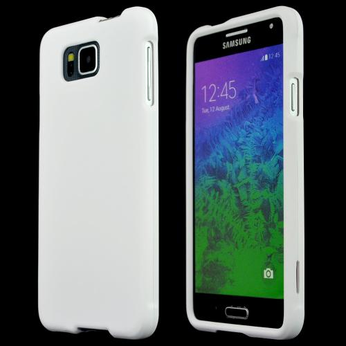 Samsung Galaxy Alpha Protective Rubberized Hard Case - Anti-slip Matte Rubber Material [Perfect Fitting Samsung Galaxy Alpha Case] [white Matte]