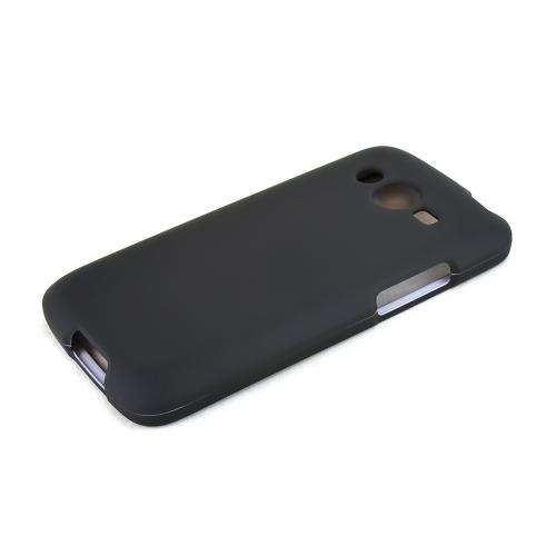 Black Samsung Galaxy Avant Matte Rubberized Hard Case Cover; Perfect fit as Best Coolest Design Plastic Cases