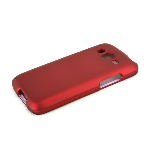 Red Samsung Galaxy Avant Matte Rubberized Hard Case Cover; Perfect fit as Best Coolest Design Plastic Cases
