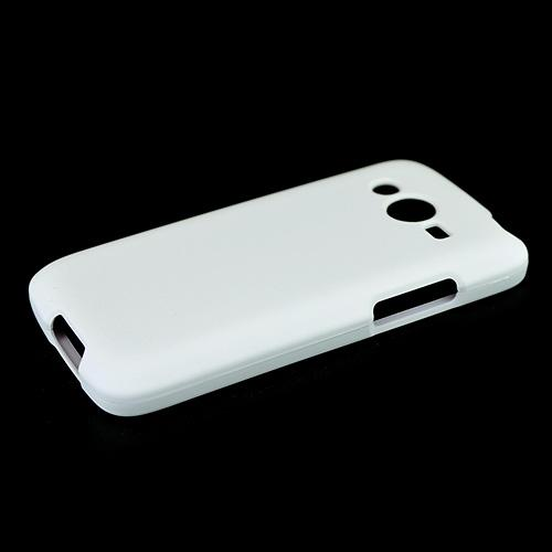 White Samsung Galaxy Avant Matte Rubberized Hard Case Cover; Perfect fit as Best Coolest Design Plastic Cases