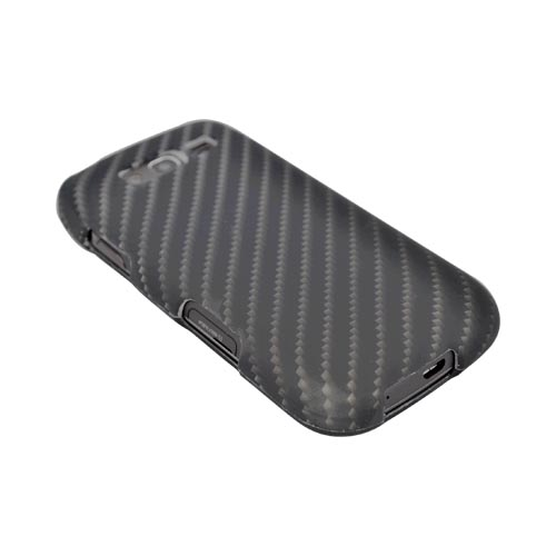 Samsung Galaxy S Blaze 4G Rubberized Hard Case - Black/ Gray Carbon Fiber