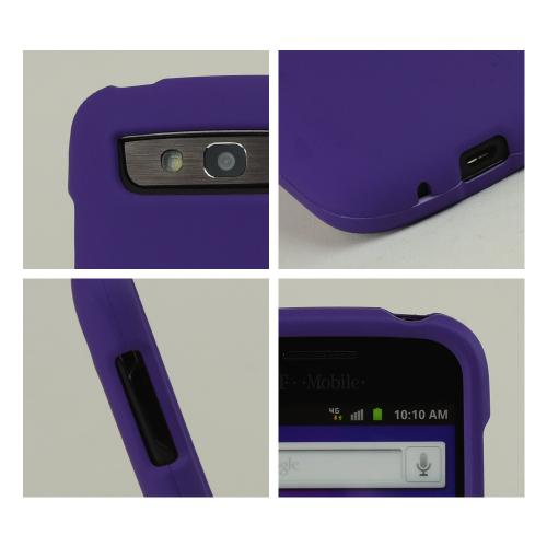 Samsung Galaxy S Blaze 4G Rubberized Hard Case - Purple