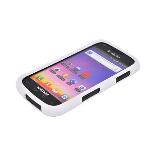 Samsung Galaxy S Blaze 4G Rubberized Hard Case - White