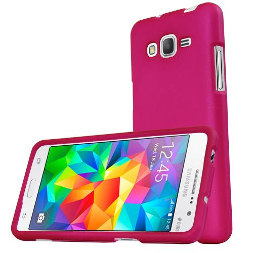 Samsung Galaxy Grand Prime Case, REDshield [Hot Pink] Slim & Protective Rubberized Matte Finish Snap-on Hard Polycarbonate Plastic Case Cover