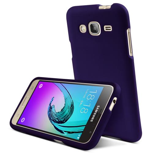Samsung Galaxy J3 Case, REDshield [Purple]  Slim & Protective Rubberized Matte Finish Snap-on Hard Polycarbonate Plastic Case Cover