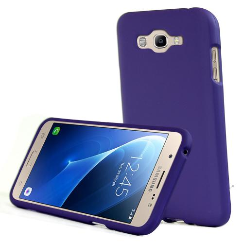 [Samsung Galaxy J7] (2015) Case, REDshield [Purple] Slim & Protective Rubberized Matte Finish Snap-on Hard Polycarbonate Plastic Case Cover