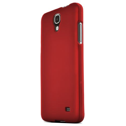 Samsung Galaxy Mega 2 Protective Rubberized Hard Case - Anti-Slip Matte Rubber Material [Slim and Perfect Fitting Samsung Galaxy Mega 2 Case] [Red]