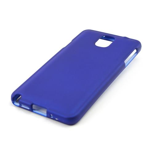 Blue Rubberized Hard Case for Samsung Galaxy Note 3