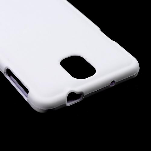 White Rubberized Hard Case for Samsung Galaxy Note 3