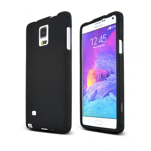 Samsung Galaxy Note 4 Case, [Black]  Slim & Protective Rubberized Matte Finish Snap-on Hard Polycarbonate Plastic Case Cover