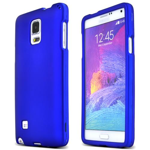 Samsung Galaxy Note 4 Protective Rubberized Hard Case | Anti-Slip Matte Rubber Material [Slim and Perfect Fitting Samsung Galaxy Note 4 Case] [Blue]