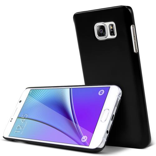 Samsung Galaxy Note 5, [Black]  Slim & Protective Rubberized Matte Finish Snap-on Hard Polycarbonate Plastic Case Cover