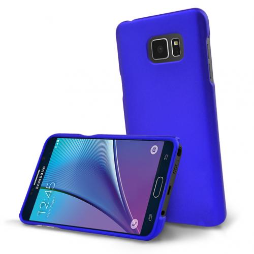 Samsung Galaxy Note 5, [Blue]  Slim & Protective Rubberized Matte Finish Snap-on Hard Polycarbonate Plastic Case Cover