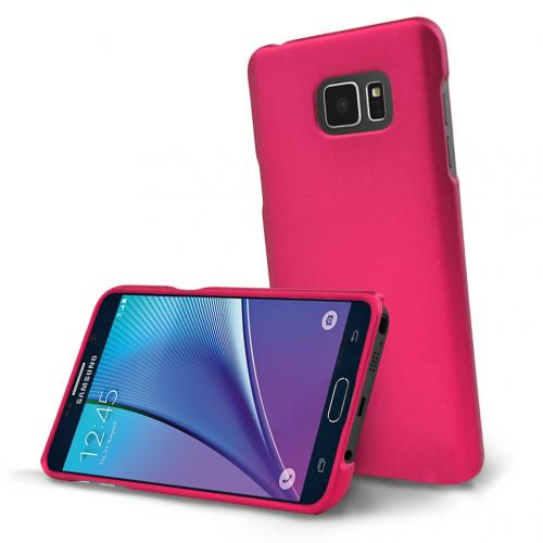 Samsung Galaxy Note 5, [Pink]  Slim & Protective Rubberized Matte Finish Snap-on Hard Polycarbonate Plastic Case Cover