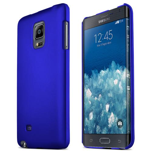 Samsung Galaxy Note Edge Protective Rubberized Hard Case - Anti-slip Matte Rubber Material [Perfect Fitting Samsung Galaxy Note Edge Case] [blue]
