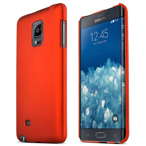 Samsung Galaxy Note Edge Protective Rubberized Hard Case - Anti-slip Matte Rubber Material [Perfect Fitting Samsung Galaxy Note Edge Case] [orange]