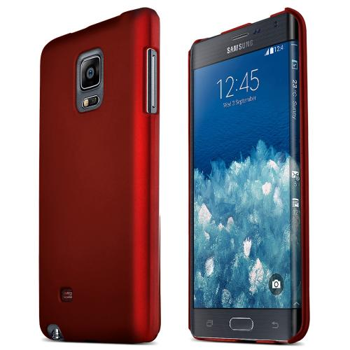 Samsung Galaxy Note Edge Protective Rubberized Hard Case - Anti-slip Matte Rubber Material [Perfect Fitting Samsung Galaxy Note Edge Case] [red]