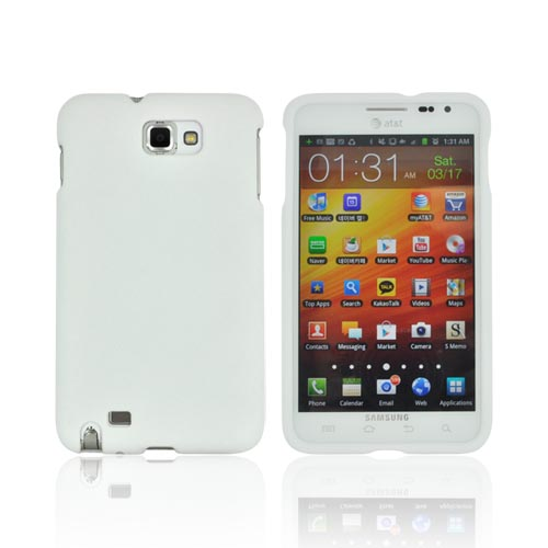 Samsung Galaxy Note Rubberized Hard Case - White