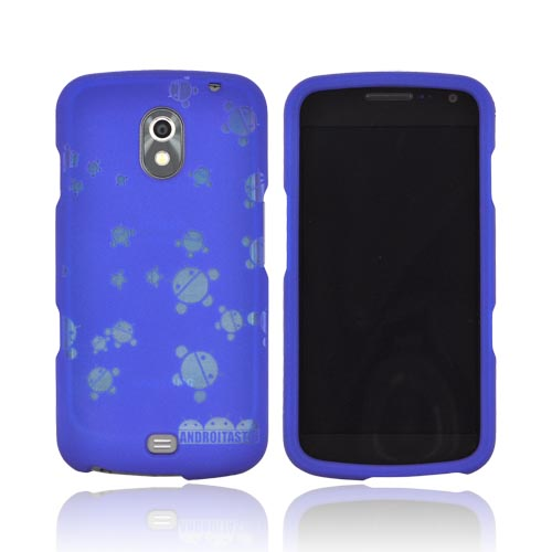 Samsung Galaxy Nexus Androitastic Rubberized Hard Case - Blue Bubble Bot Invasion