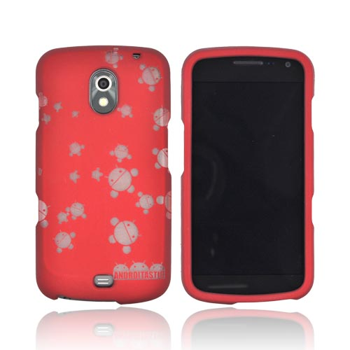 Samsung Galaxy Nexus Androitastic Rubberized Hard Case - Red Bubble Bot Invasion