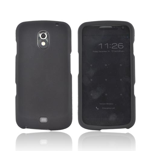 Samsung Galaxy Nexus Rubberized Hard Case - Black