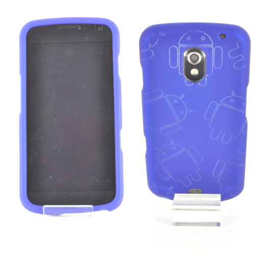 Samsung Galaxy Nexus Rubberized Androitastic Hard Case - Blue