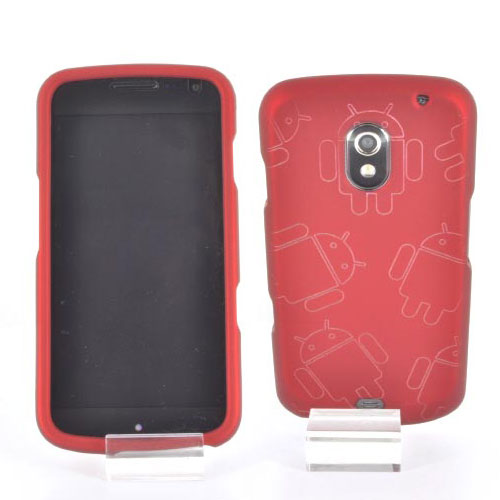 Samsung Galaxy Nexus Rubberized Androitastic Hard Case - Red