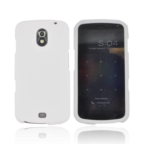 Samsung Galaxy Nexus Rubberized Hard Case - Solid White