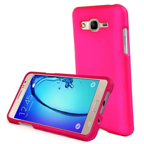 [Samsung Galaxy On5] Case, REDshield [Hot Pink] Slim & Protective Rubberized Matte Finish Snap-on Hard Polycarbonate Plastic Case Cover with Travel Wallet Phone Stand