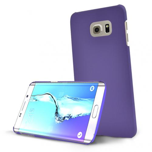 Samsung Galaxy S6 Edge Plus,  [Purple]  Slim & Protective Rubberized Matte Finish Snap-on Hard Polycarbonate Plastic Case Cover