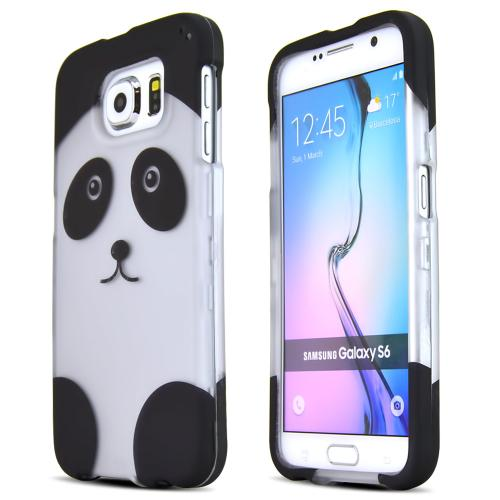 Samsung Galaxy S6 Case,  [Panda Bear]  Slim & Protective Rubberized Matte Finish Snap-on Hard Polycarbonate Plastic Case Cover