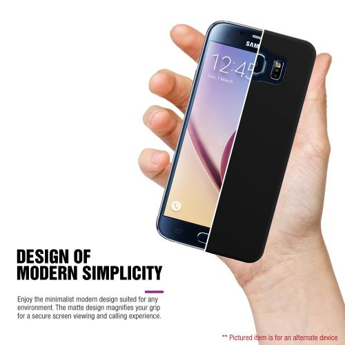 Samsung Galaxy S6 Case,  [White Lace]  Slim & Protective Rubberized Matte Finish Snap-on Hard Polycarbonate Plastic Case Cover