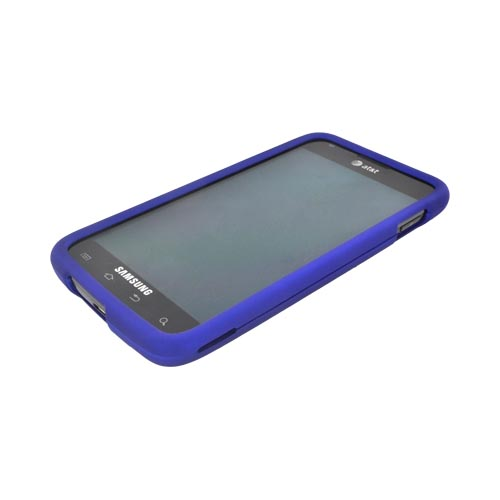 Samsung Galaxy S2 Skyrocket Rubberized Hard Case - Blue