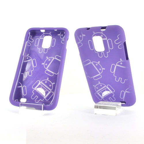 Samsung Galaxy S2 Skyrocket Rubberized Androitastic Hard Case - Purple
