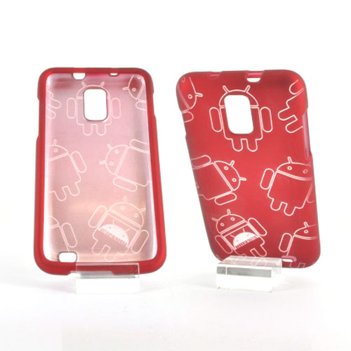 Samsung Galaxy S2 Skyrocket Rubberized Androitastic Hard Case - Red