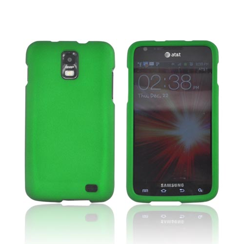 Samsung Galaxy S2 Skyrocket Rubberized Hard Case - Green