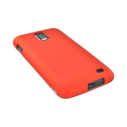 Samsung Galaxy S2 Skyrocket Rubberized Hard Case - Orange