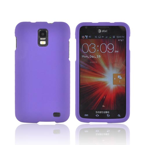 Samsung Galaxy S2 Skyrocket Rubberized Hard Case - Purple