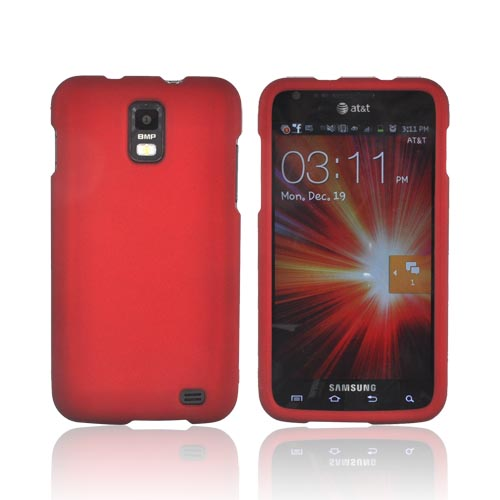 Samsung Galaxy S2 Skyrocket Rubberized Hard Case - Red