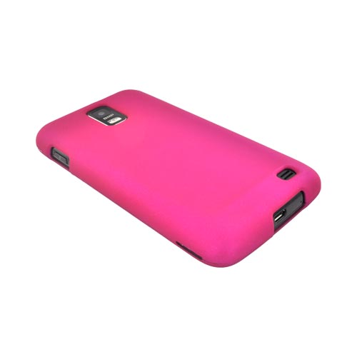 Samsung Galaxy S2 Skyrocket Rubberized Hard Case - Rose Pink